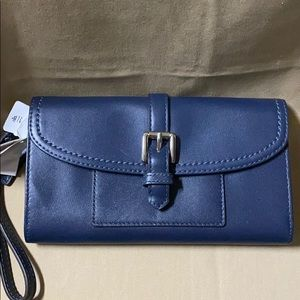 Coach Blue Wrist Wallet